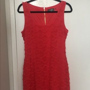 Red/magenta lace Guess dress
